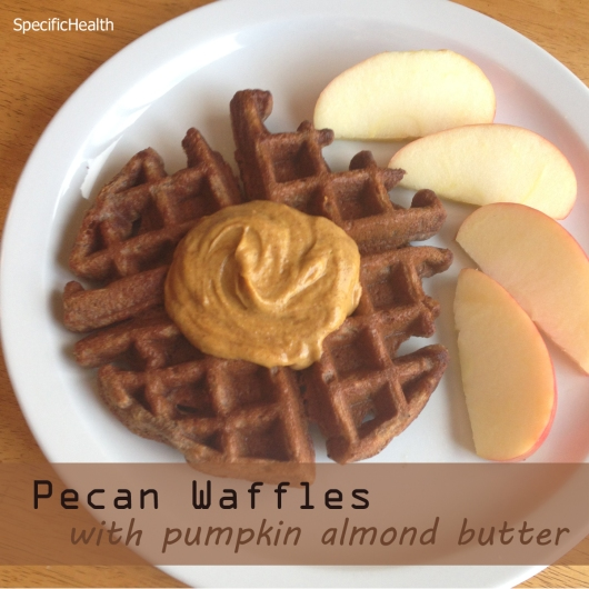 Pecan Waffles with Pumpkin Almond Butter (SCD) - Specific Health